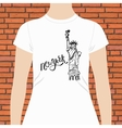 New York T-Shirt with Statue of Liberty Design vector image