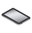 realistic tablet in isometry isolated on a white vector image