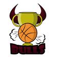 retro bulls logo vector image