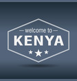 Welcome to kenya hexagonal white vintage label vector image