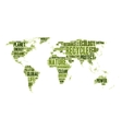 World map made of eco words vector image