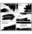 Collection horizontal business grunge cards vector image