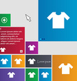 T-shirt icon sign buttons Modern interface website vector image