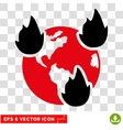 Earth Disasters Eps Icon vector image