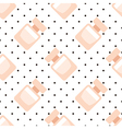 Cute perfume fragrance bottle seamless pattern vector image