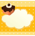 A stationery with a chocolate cake vector image