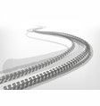 automotive tire tracks vector image