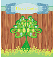 abstract tree with Easter eggs vector image