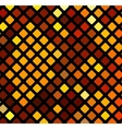 Bright orange mosaic vector image vector image