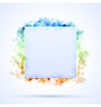 Square border with color sparks vector image vector image