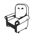 Icon chair vector image