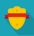 badge warrior icon flat style vector image