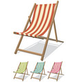 beach chair set vector image