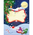 Christmas and New Year card with flying rein deers vector image