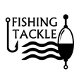 fishing tackle symbol vector image