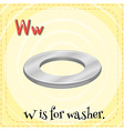 Flashcard letter W is for washer vector image