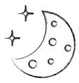 half moon with stars vector image