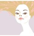 portrait of beautiful blonde woman vector image