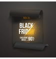 Realistic Folded Paper Scroll Black Friday Sale vector image