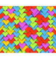 Seamless background of colorful abstract triangle vector image