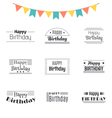 Set of Happy Birthday greeting cards Birthday vector image