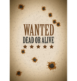 wanted dead or alive vector image