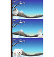 Wild animals in winter time vector image
