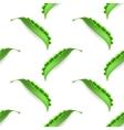 Fresh Natural Green Peas Seamless Pattern vector image vector image
