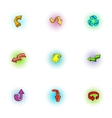 Index icons set pop-art style vector image vector image