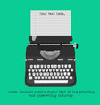 retro typewriter with blank paper vector image