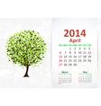calendar 2014 3 04 vector image
