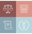 set of juridical and legal logos vector image