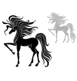 silhouette of a stallion vector image vector image