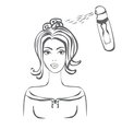Women in hairdressing salon -doodle Vector Image