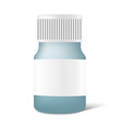 Realistic medicine bottle with label in vector image
