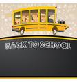 Back to School on Black Chalk Board vector image