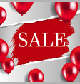 banner with ripped sale poster vector image