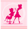 Beautiful woman in hairdressing salo vector image