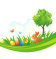 easter bunny design vector image