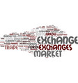 exchanges word cloud concept vector image