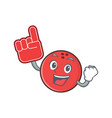 foam finger bowling ball character cartoon vector image