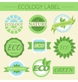 green eco nature label print set vector image