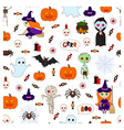 halloween pattern second vector image