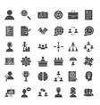 human resources solid web icons vector image
