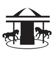 isolated carousel silhouette vector image