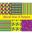 Mardi Gras seamless pattern set Collection of vector image