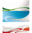 set of abstract nice backgrounds vector image