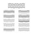 Guilloche borders set engraving money vector image