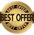 Best offer golden label vector image vector image