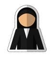 nun avatar isolated icon vector image